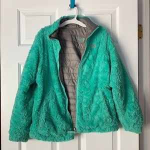 The North Face girls down fluffy parka